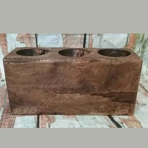 Farmhouse Primitive 3-Hole Wood Sugar Mold